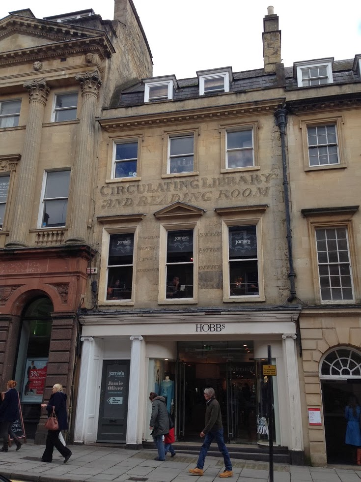 Circulating Library ghost sign, Bath
