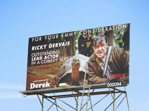 Ricky Gervais Derek Emmy billboard 2014