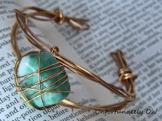 Wire Wrapped Crystal Bracelet - Unfortunately Oh!