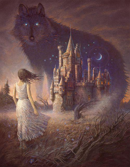 Andrew Ferez 25kartinok deviantart ilustrações sombrias surreais Noite selvagem