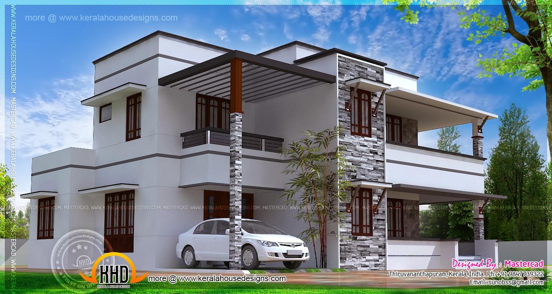 3 bedroom contemporary villa kerala home design and for 3 bedroom villa plans
