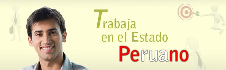 Trabaja para el Estado Peruano