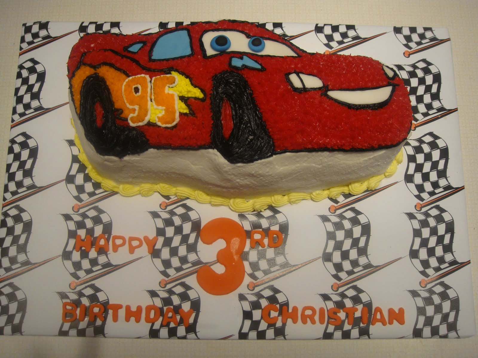 Cakes By Lam Designs Lightning Mcqueen Birthday Cake