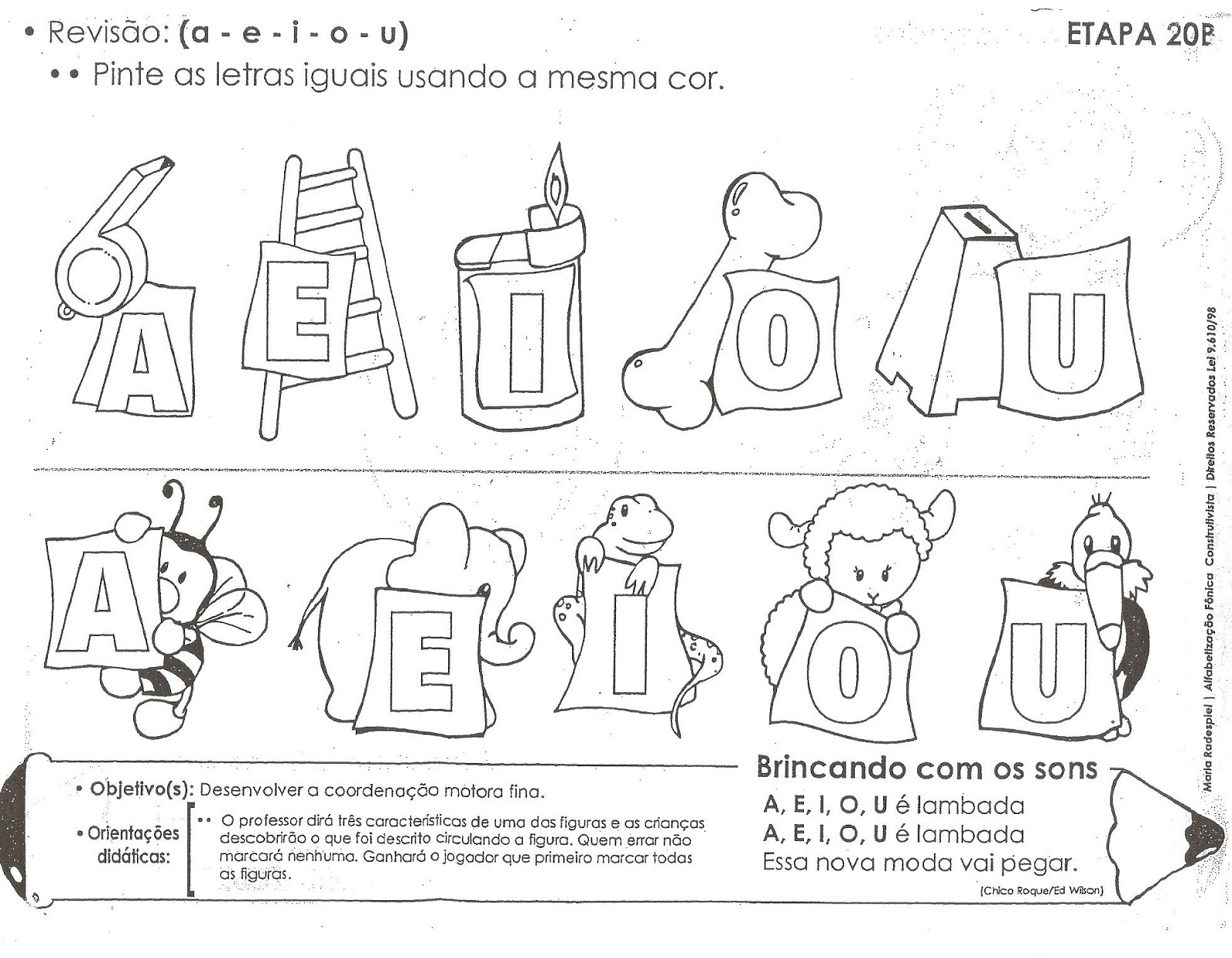 17 best images about atividades com as vogais on pinterest