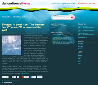 Design Disease – Free WordPress Theme