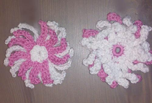 Вязанный крючком цветок схемы