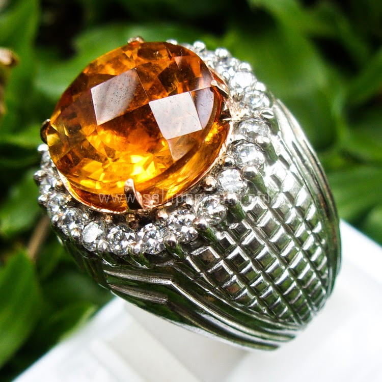 Cincin Batu Permata Golden Citrine - SP516