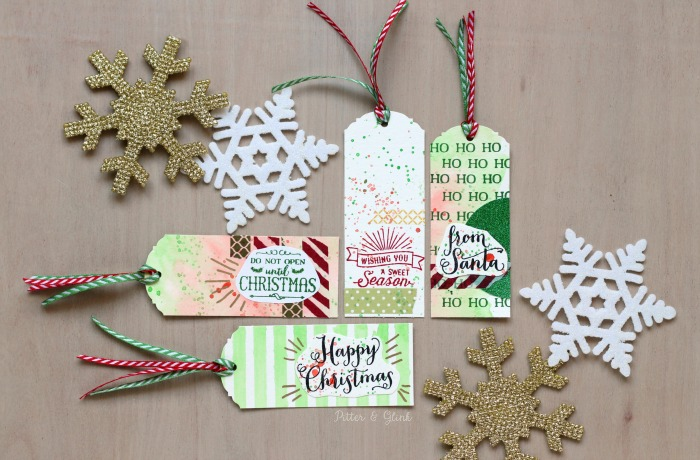 Create beautiful Watercolor Gift Tags to add a handmade touch to store-bought gifts. www.pitterandglink.com
