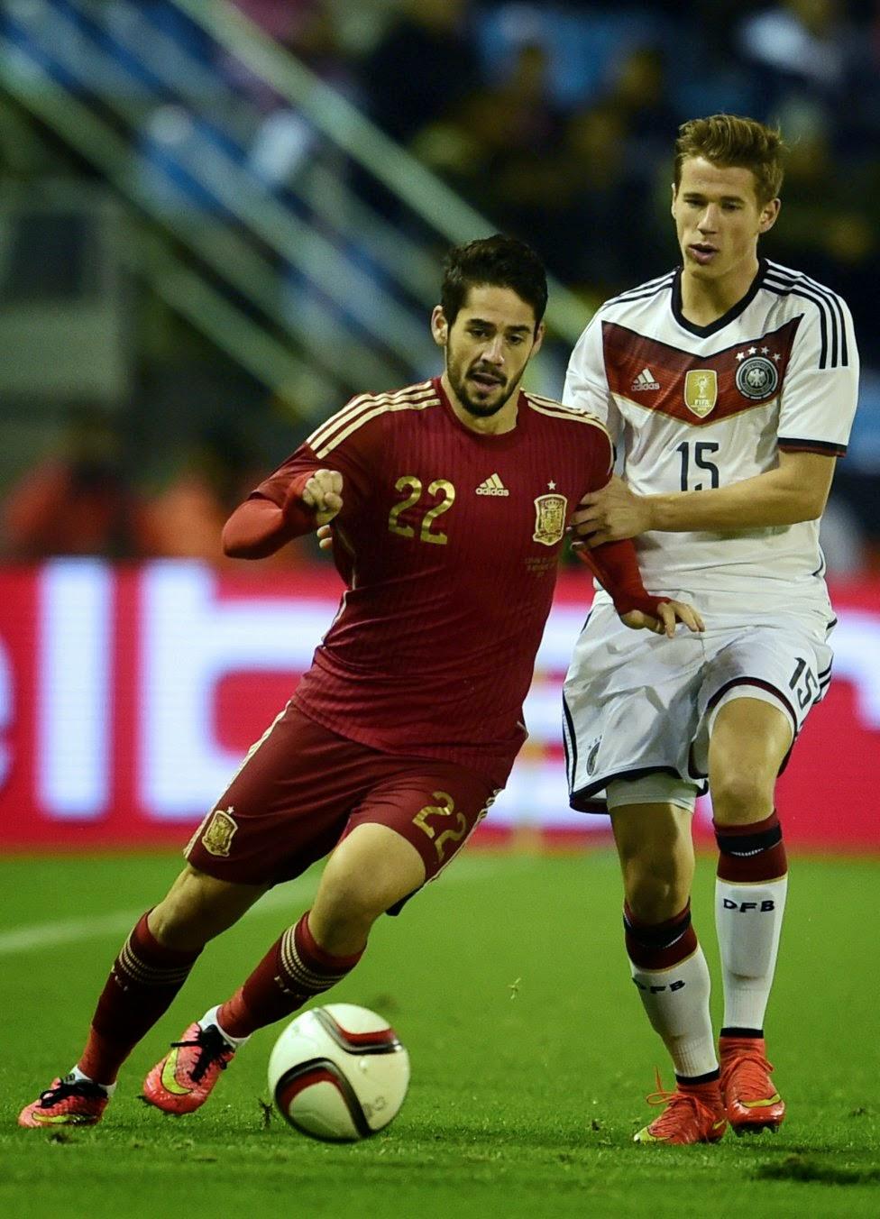 Spain vs Germany 2014