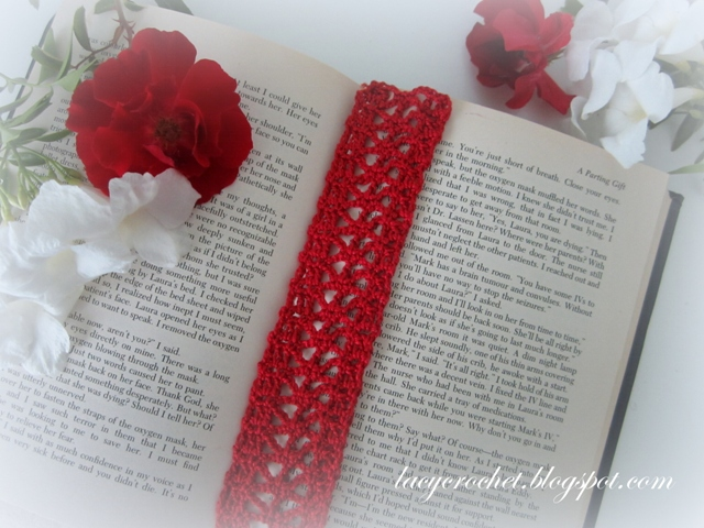 Free Crochet Bookmark Patterns : Lacy Crochet: Crochet Lace Trim, free pattern