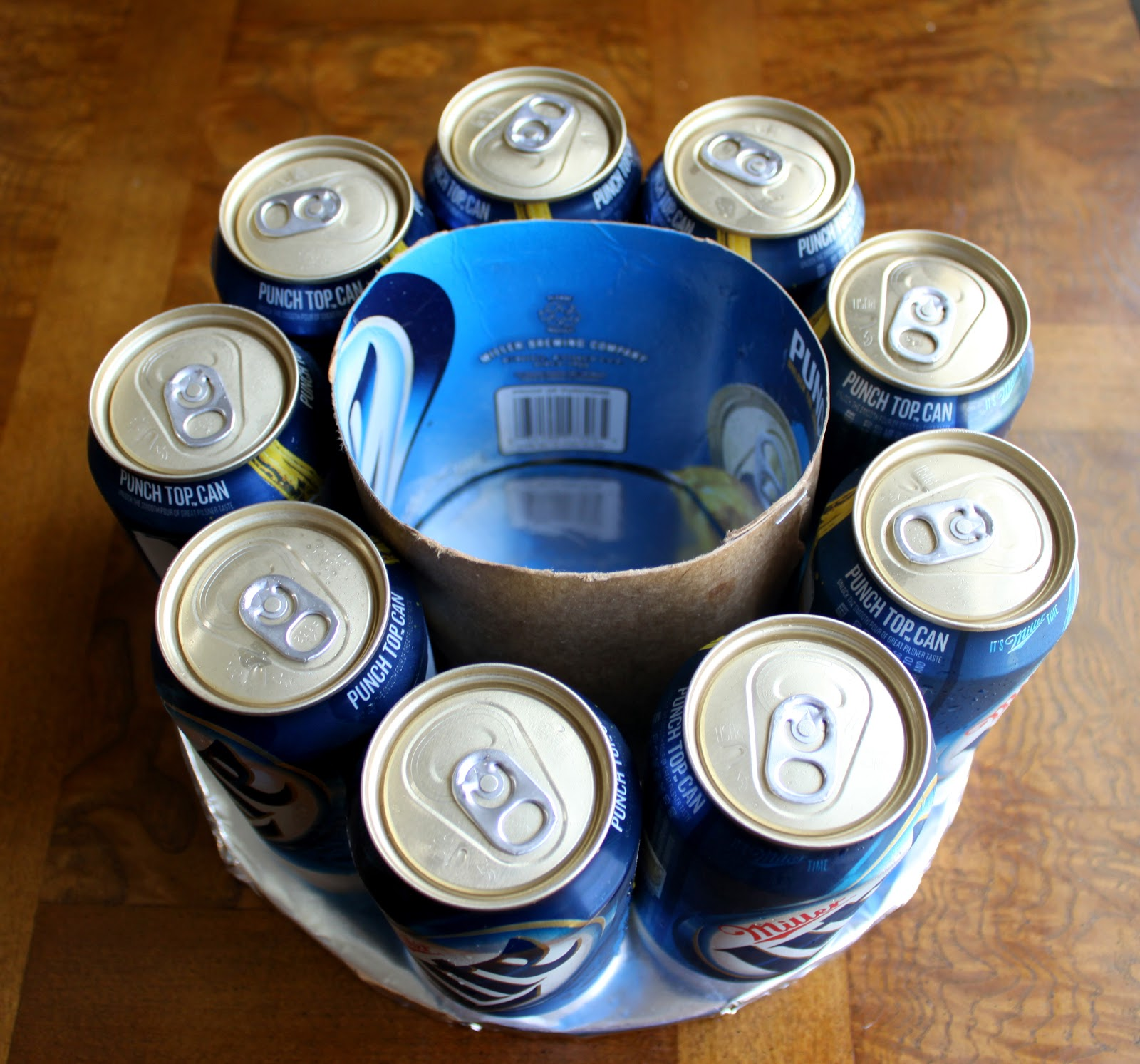 Directions How To Make A Cake Out Of Beer Cans