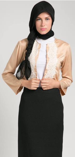 Contoh Gambar Baju Muslim Kerja Kantor