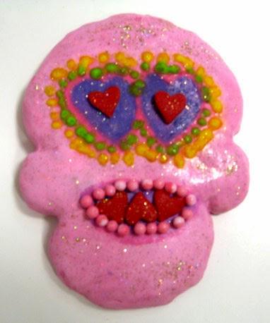 Heart Skull Cookie - Mayan Style