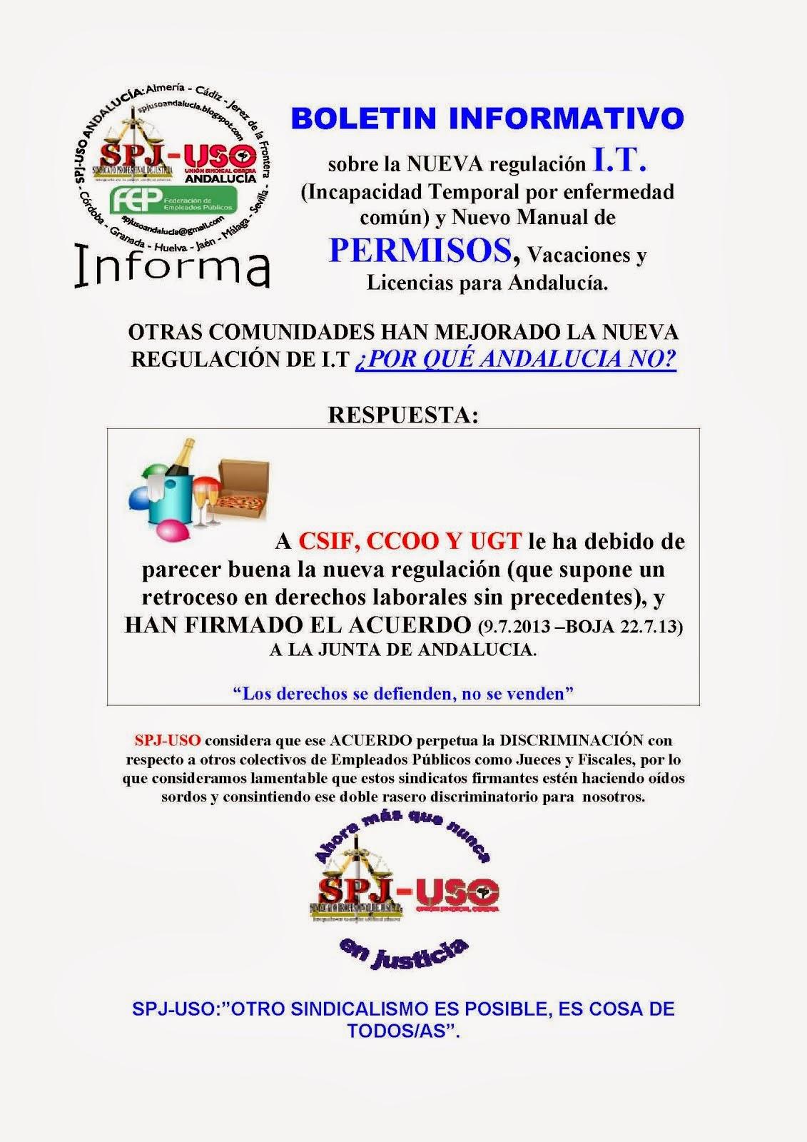 SPJ-USO Andalucía presenta RECURSO CONTRA LA IT. (11.10.13).