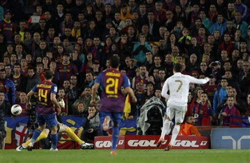 Cristiano Ronaldo scores the winner for Real Madrid against Barcelona
