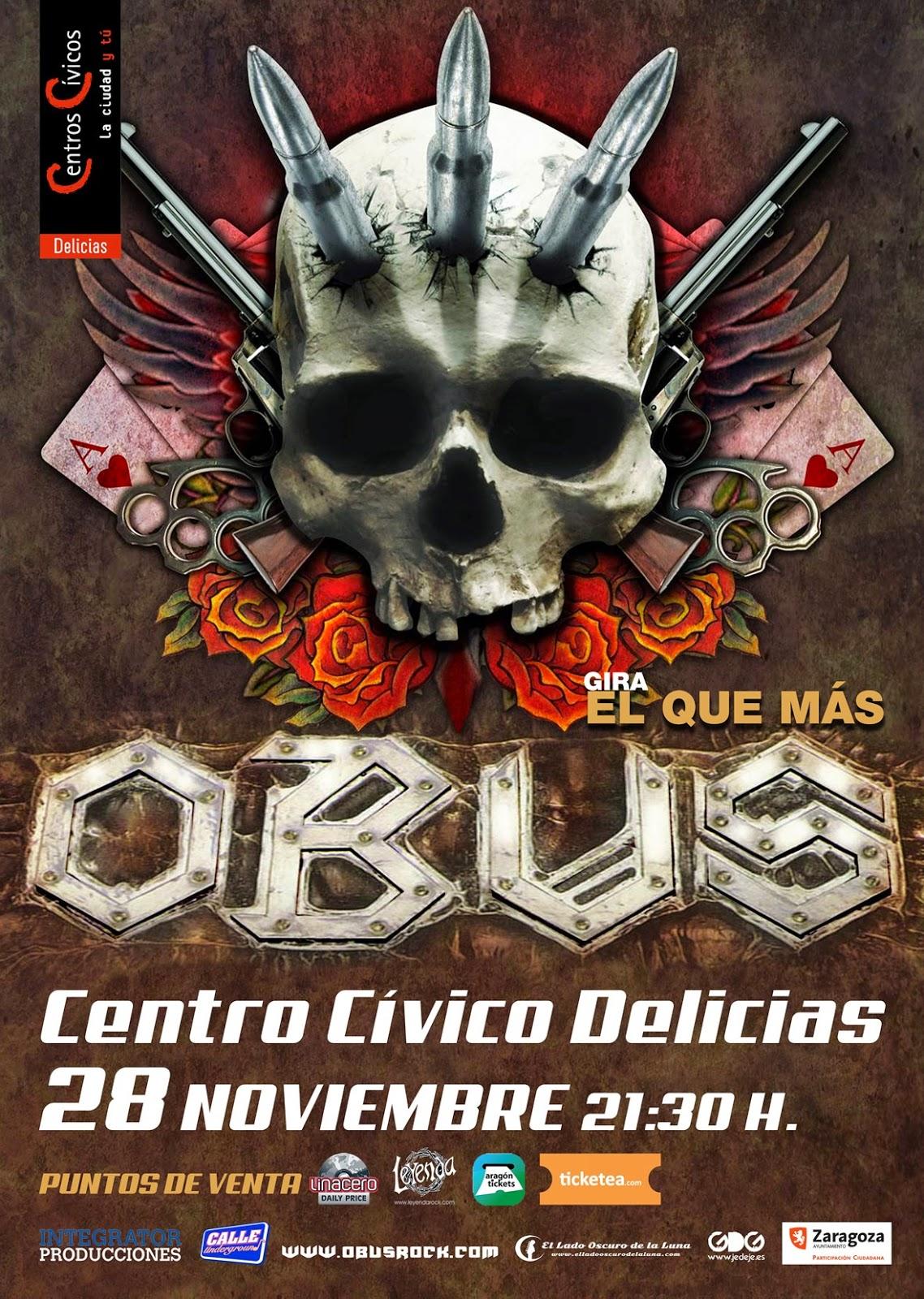 Concierto de Obús en Zaragoza
