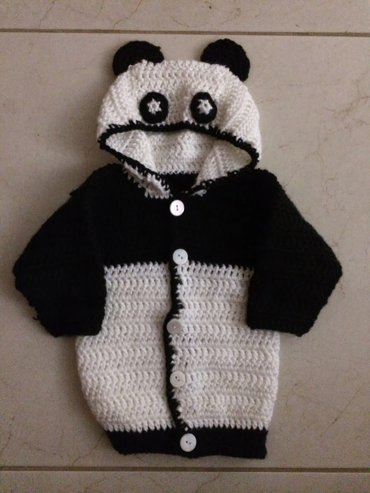 Hooded Baby Panda Sweater - Free Pattern | Not My Nana\'s Crochet!