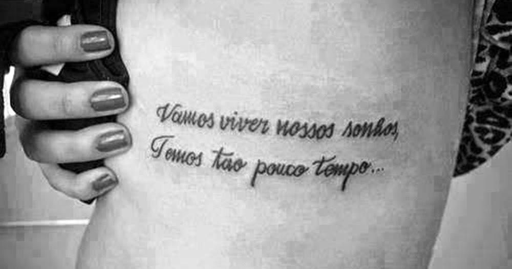 Paloma Gomes Inspire Se Tatuagens De Frases