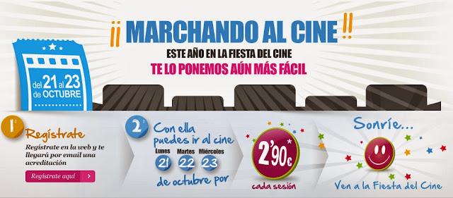 Del Lunes 21 al Miercoles 23 entradas de cine a menos de 3€