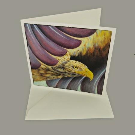 Atelier for Hope Kunstkaart incl. enveloppe, afbeelding schilderij adelaar, bijbelse kaarten, christelijke kaart