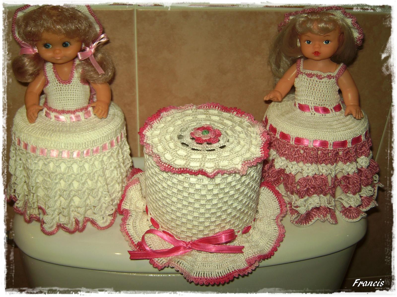 Set De Baño Tejido En Crochet Paso A Paso:Adornos Para El Bano De Crochet