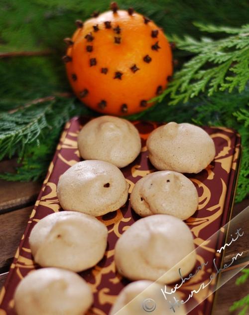 Weihnachtsbäckerei - Koriander-Baisers