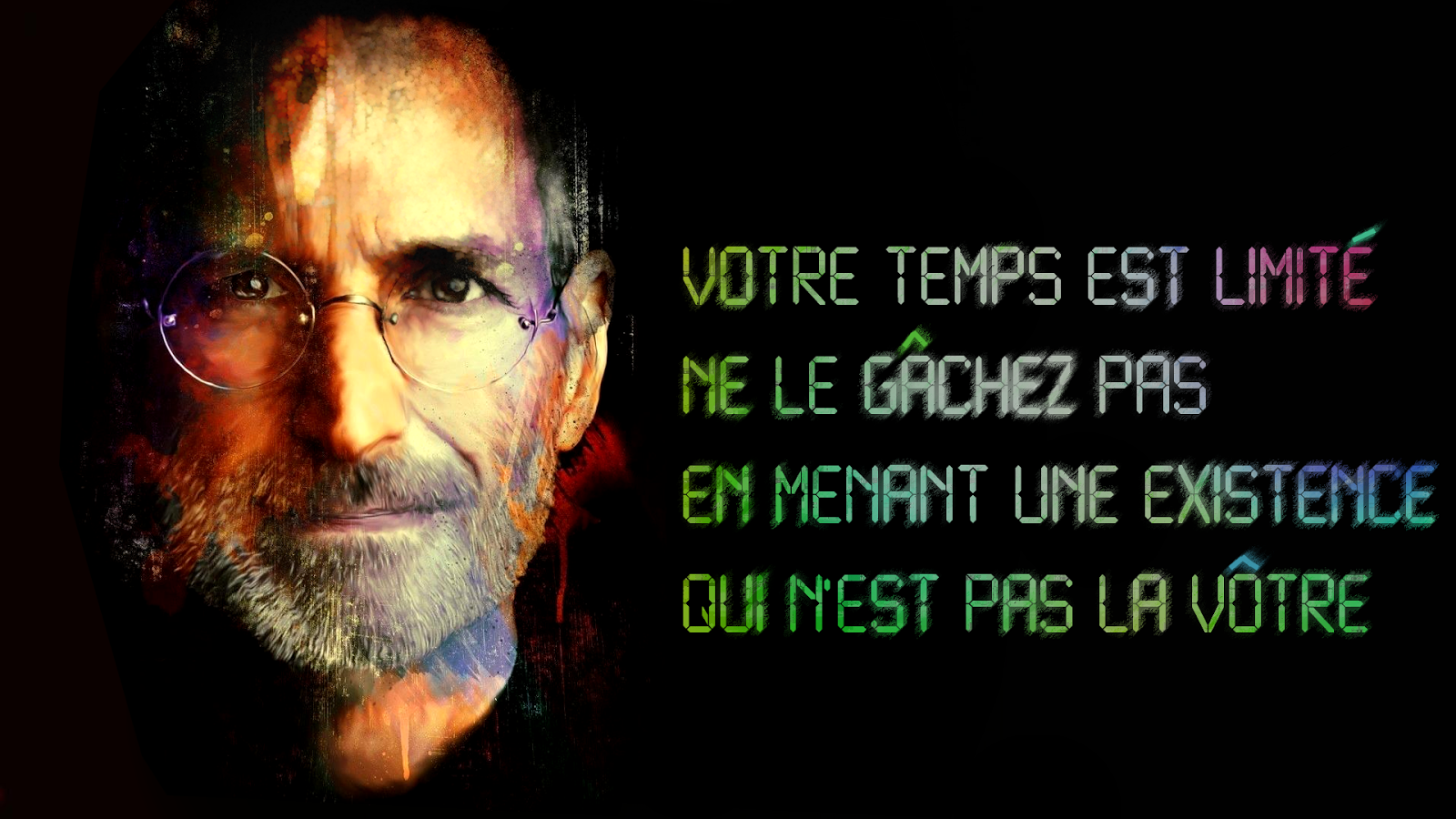 citation sur le temp steve jobs belle citation sur la. Black Bedroom Furniture Sets. Home Design Ideas