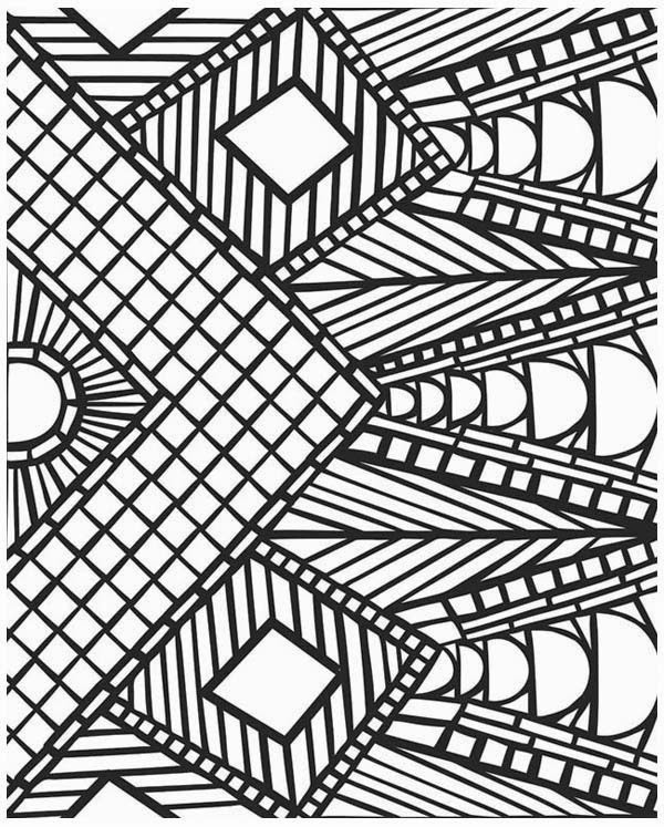 The beauty of the design of mosaic coloring pages for kids for Geometric coloring pages online