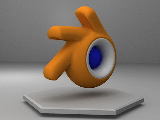 Download Software Blender 3D, Blender 3D, Logo Blender 3D