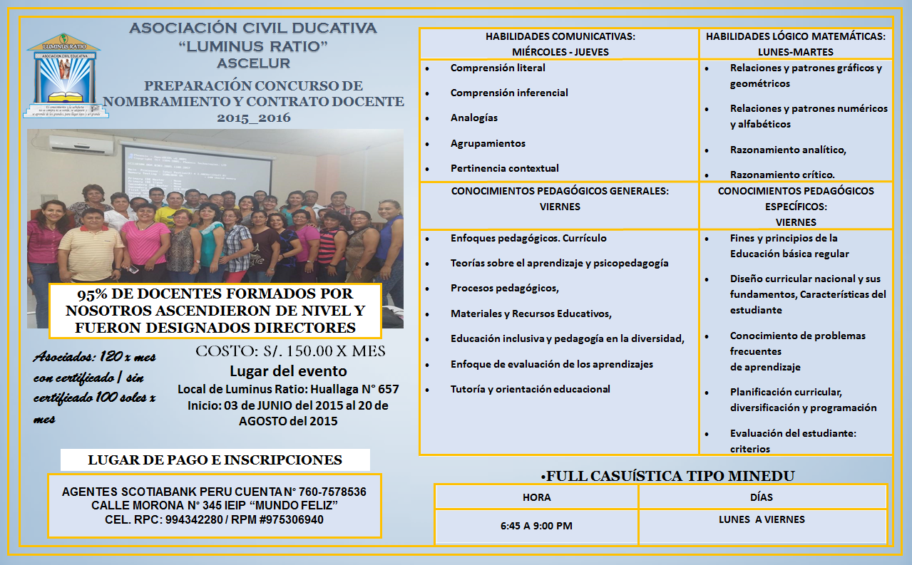 Asociaci n civil educativa luminus ratio preparaci n for Concurso meritos docentes 2016