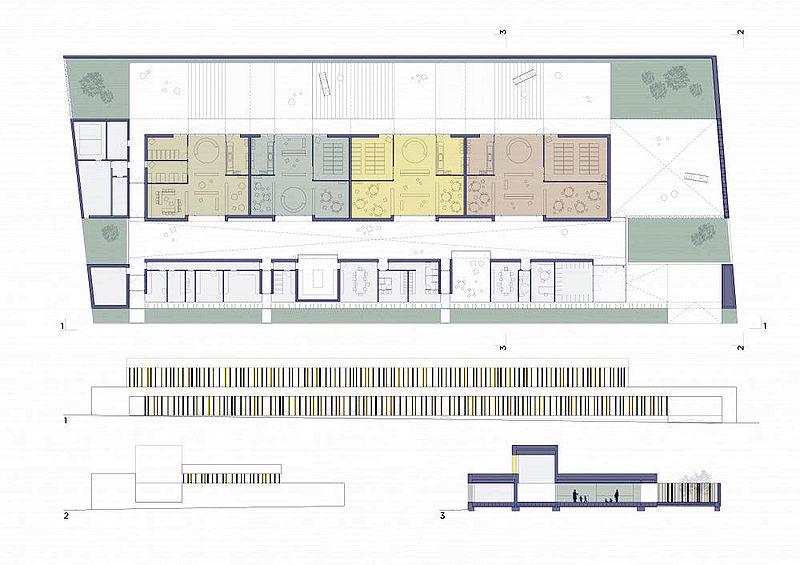 Arquitectura zona cero espa a escolar escuela infantil for Plano escuela infantil