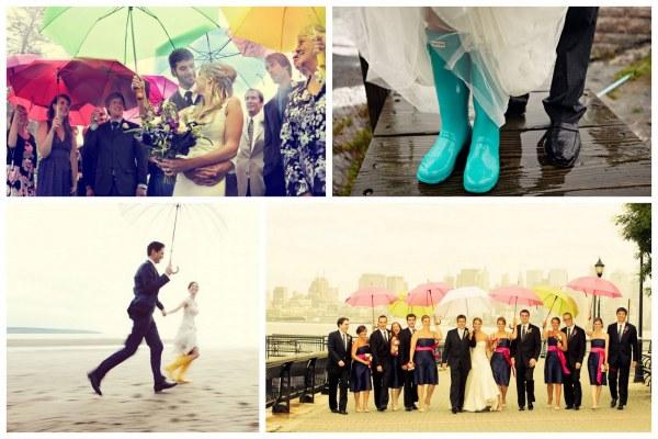 une jolie crmonie labri des parapluies - Parapluie Mariage Pluvieux Mariage Heureux