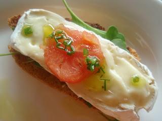 tosta de pan con queso al estilo belga