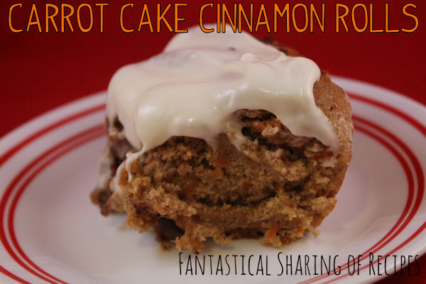 Carrot Cake Cinnamon Rolls - cake and cinnamon rolls together with a rich cream cheese frosting #recipe #breakfast