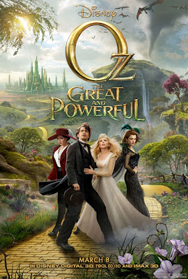Oz the Great and Powerful, James Franco, Mila Kunis, Zach Braff, Rachel Weisz, Michelle Williams