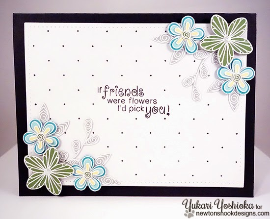 "Floral Friendship Card by Handmade by Yuki | ""Beautiful Blossoms"" by Newton's Nook Designs"