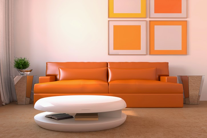 Living room paint color ideas orange white paint color combination