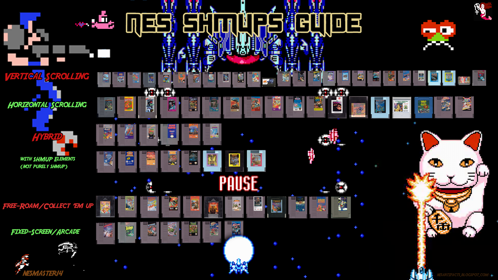 Thanks for looking, I hope this list helps you in finding your NES SHMUP needs.