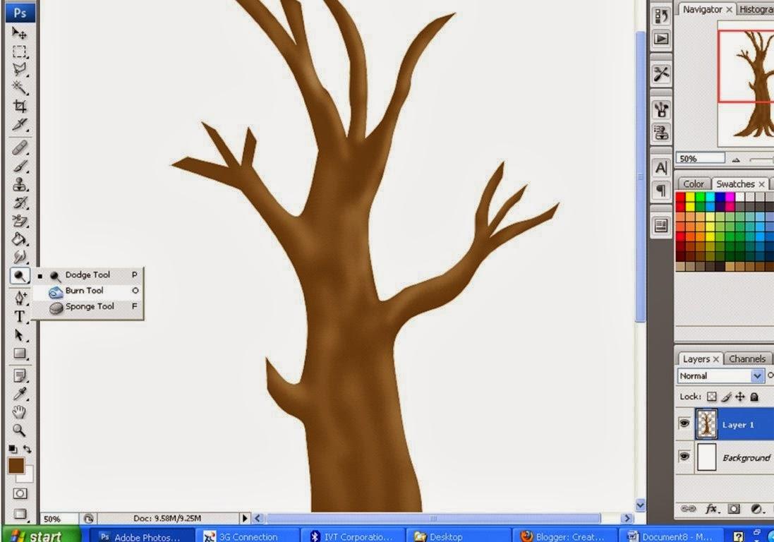 Menggambar pohon dengan photoshop