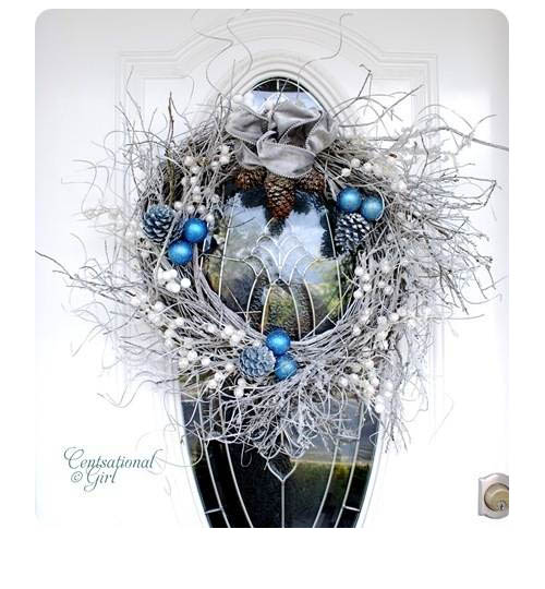 The wreath blog winter willow wreath at centsational girl for Centsational girl