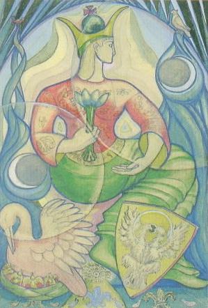 Empress card design Crowley/Harris Thoth deck
