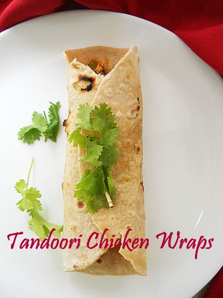 ... your Indianised fajita or skinny tandoori chicken wraps are ready