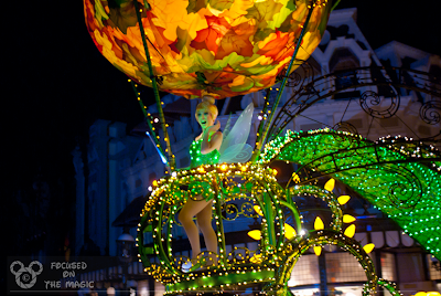 Tinkerbell, Magic Kingdom Electric Light Parade Focused on the Magic