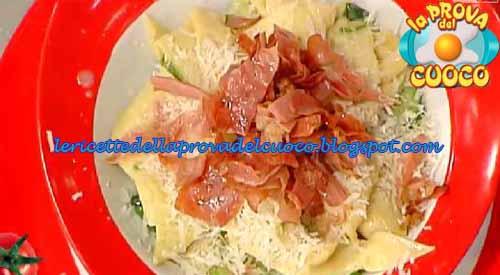 Pappardelle con prosciutto e zucchine ricetta La Prova del Cuoco