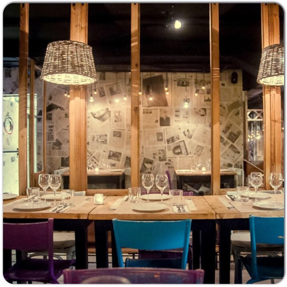 Vista del reservado situado en el interior del restaurante Saporem