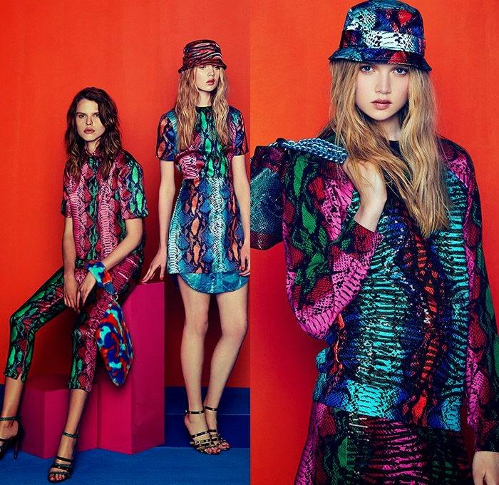 Tendência da moda 2015 - padrão zebra vestido e calças