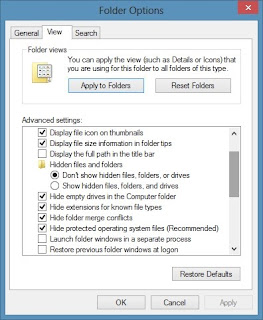 Windows 8 Folder Options