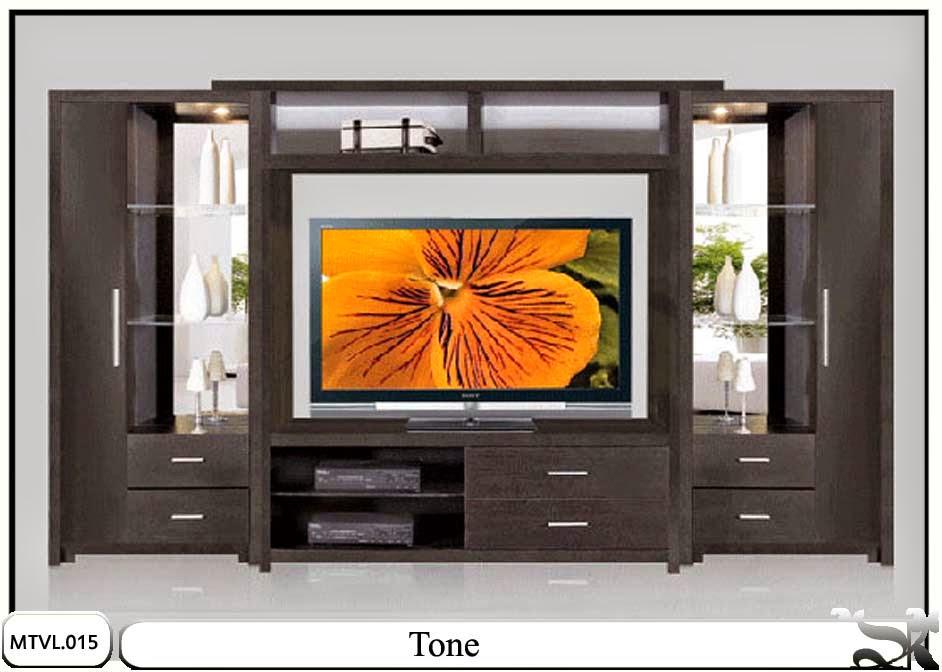 Lemari hias tv lcd minimalis Tone