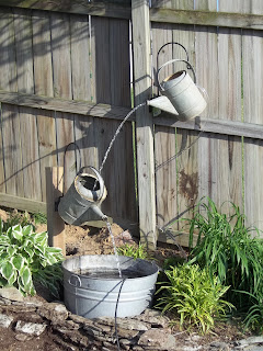 Watering can water feature tutorial