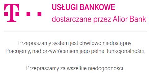 awaria w t-mobile usługi bankowe